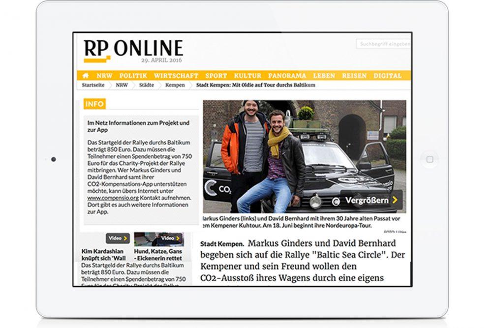 Die Rheinische Post berichtet über Team CO<sub>2</sub>mpensio - CO2mpensio
