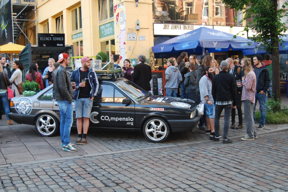Rallye-Pre-Event in der Schanze - CO2mpensio